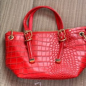 Red Olivia and joy New York small hand bag